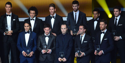 Players Included In 2012 FIFPro World Xi Named