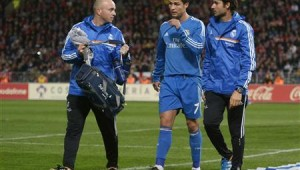 Real Madrid's Ronaldo walks off the field after being replaced during their Spanish First Division soccer match against Almeria in Almeria