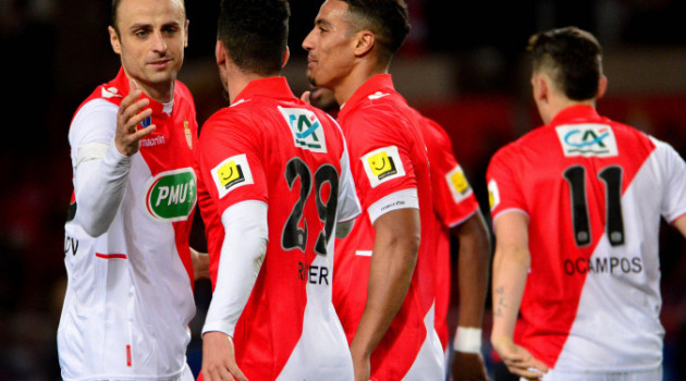 FOOTBALL : AS Monaco FC vs RC Lens - 1/4 de finale Coupe de France - Monaco - 26/03/2014