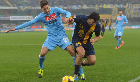 Napoli and Hellas Verona