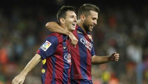 Barcelona-Messi and Pique